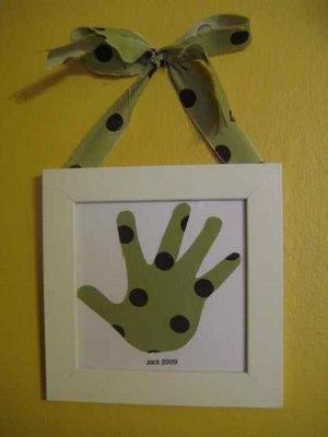 Handprint Art for Mother's Day