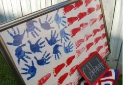 Handprint American Flag