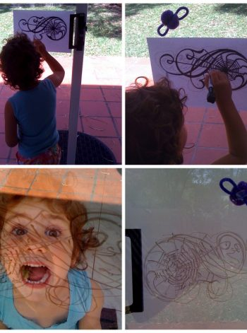 Spiderweb Window Art