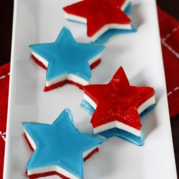 Red, White and Blue Jello Stars