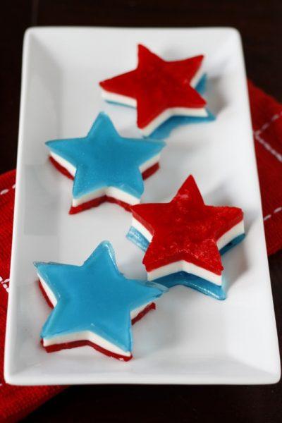 Red, White and Blue Jello Stars