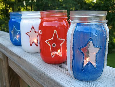 Red, White & Blue Luminaries