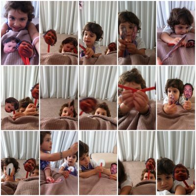 Family Photo Stick Puppets