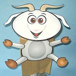 Goat Paper Bag Puppet