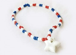 Patriotic Pony Bead Necklace