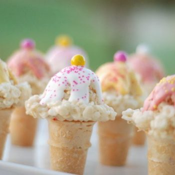 Rice Krispies Ice Cream Cones