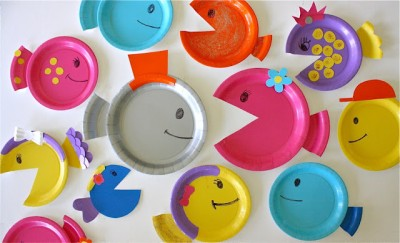 School of Paper Plate Fish & School of Paper Plate Fish | Fun Family Crafts
