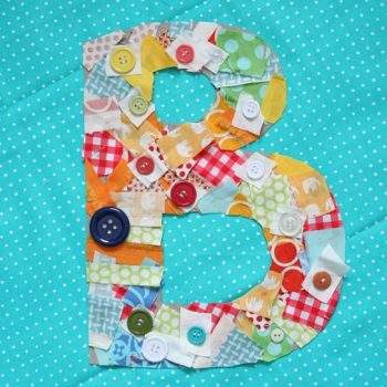 Monogrammed Fabric Scrap Letters