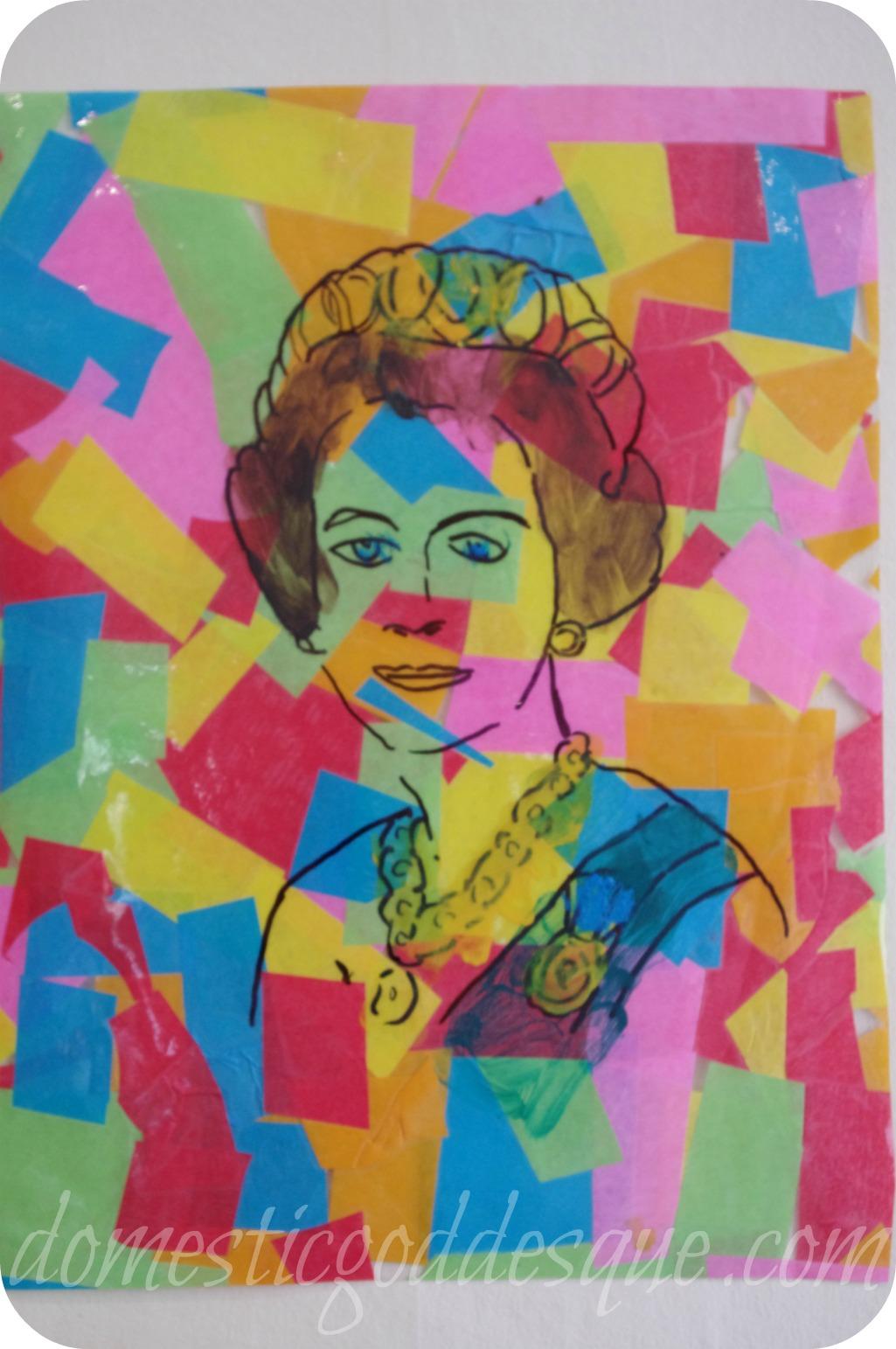 queen pop art after warhol jubilee craft fun family crafts