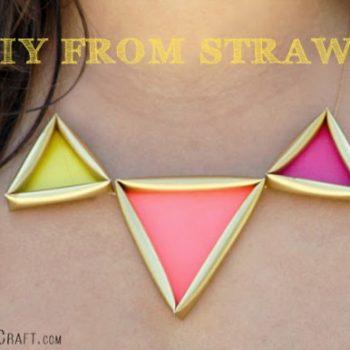 Neon Drinking Straw Necklace