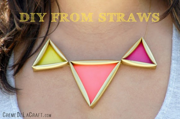 Neon Drinking Straw Necklace