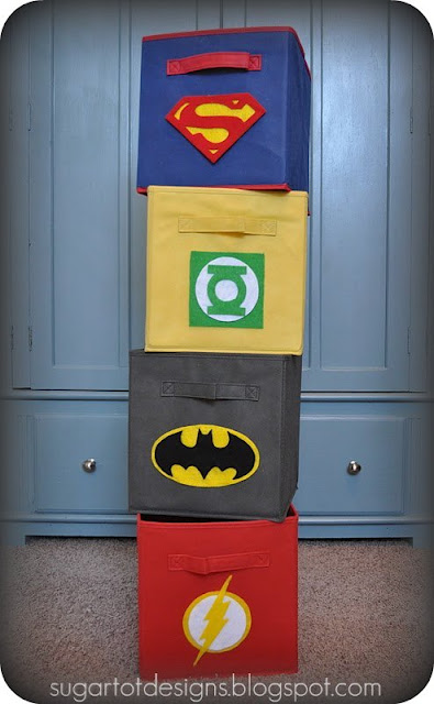 Super Hero Bins