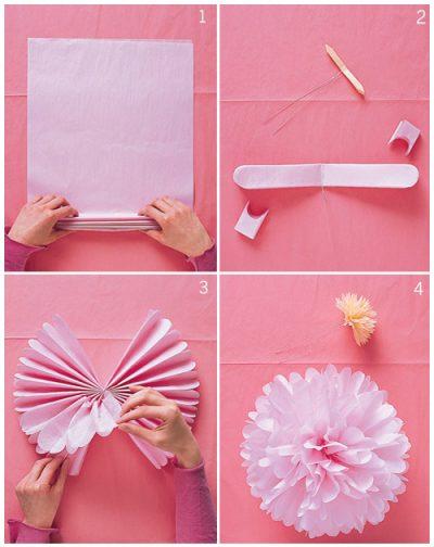 Hanging Tissue Pom Poms