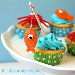 gumdrop fish and crab cupcake toppers