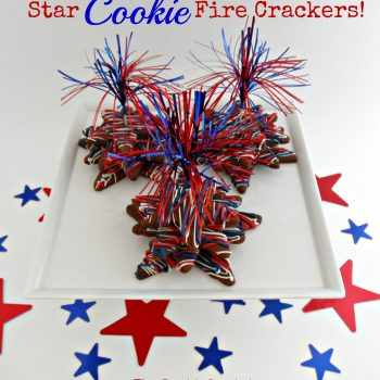 Chocolate Star Cookie Firecrackers