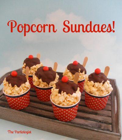 Popcorn Sundae Cups