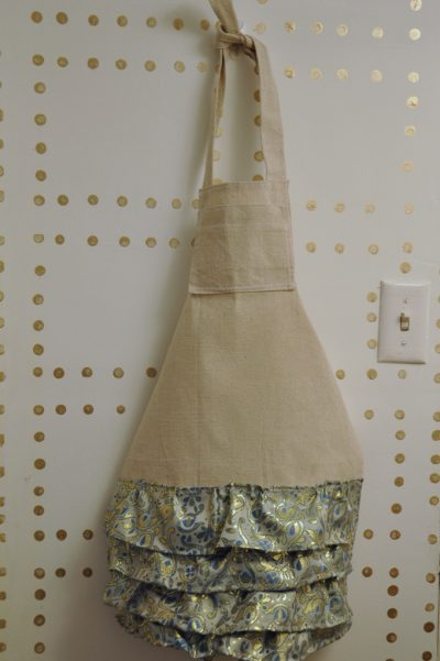 Kid's DropCloth Ruffled Apron