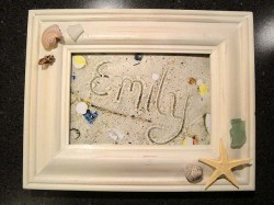 Framed Sand Writing