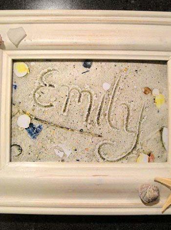 Framed Sand Writing