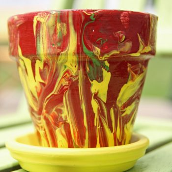 Marbled Pottery Painting