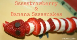 Strawberry and Banana Snakes