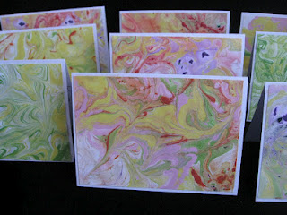 Marbled Paper Notecards