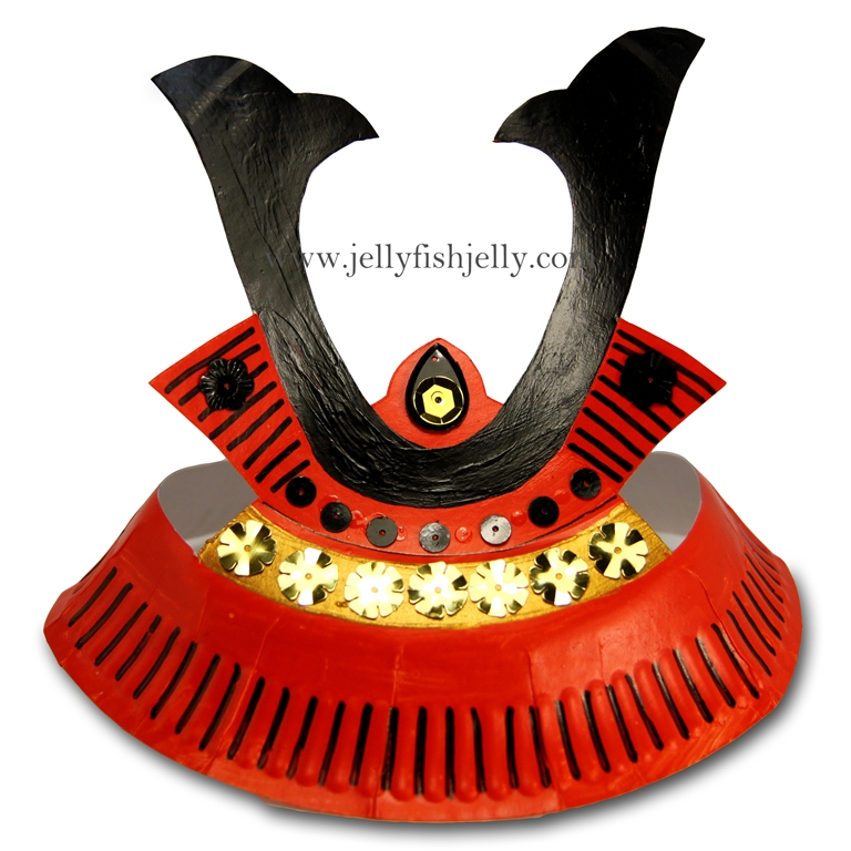 Paper Plate Samurai Helmet