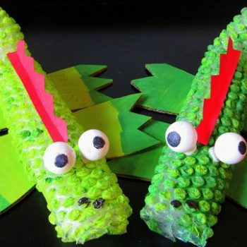 Bubble Wrap Crocodiles