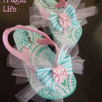 Ballet Tutu Flip Flops