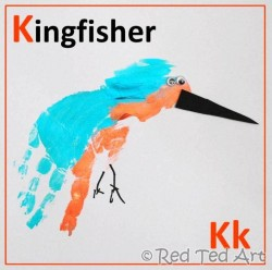 Kingfisher Handprint