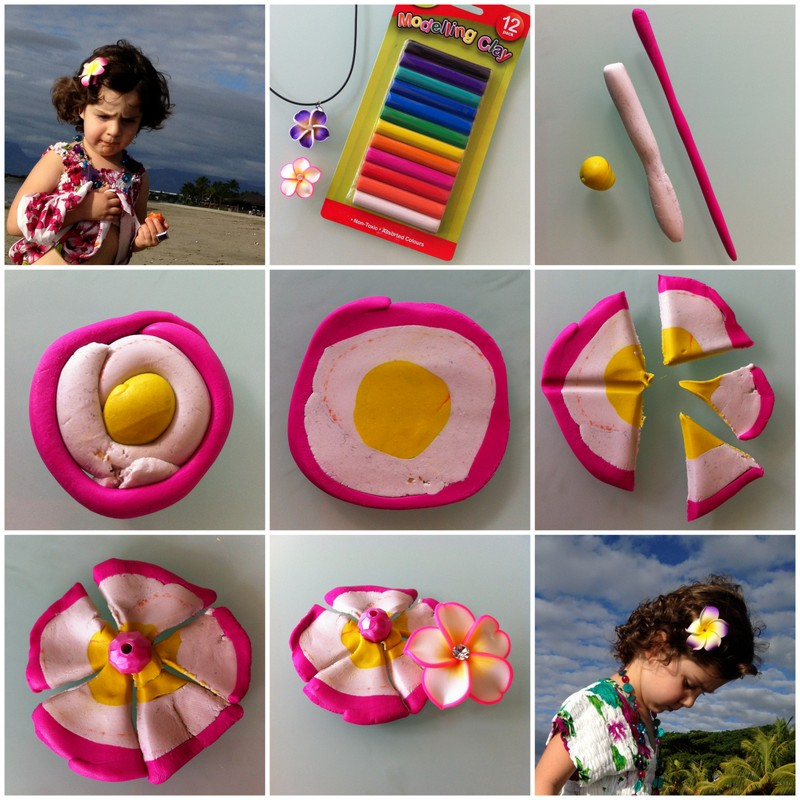 Play-dough Frangipani Flowers