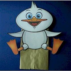 Paper Bag Duck Puppet
