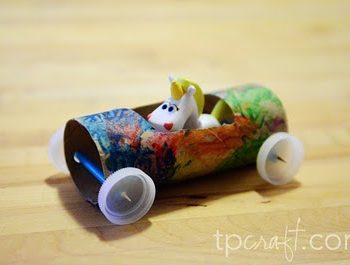 Cardboard Tube Racecar