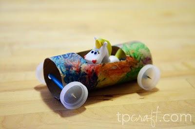 Racecar tubo de papelão