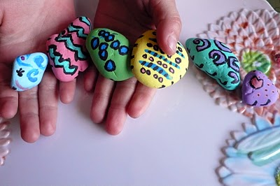 Painted Rock Caterpillars