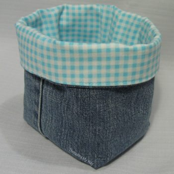 Denim Fabric Baskets