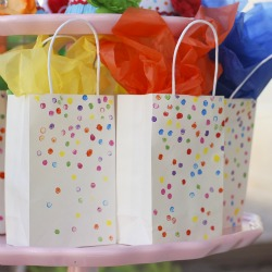 Stamped Sprinkle Bag
