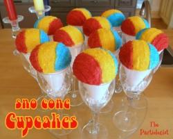 Sno Cone Cupcakes