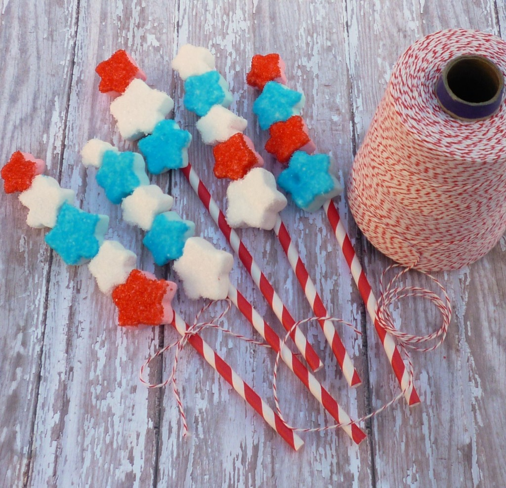 Sparkly Star Marshmallow Straws