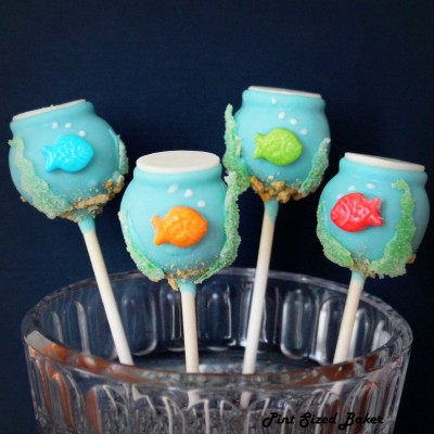 Goldfish Bowl Cake Pops