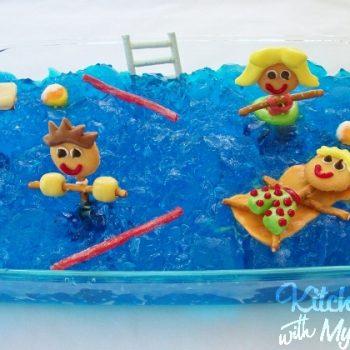 Pool Party Jello Dessert