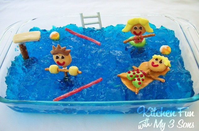 Pool Party Jello Dessert