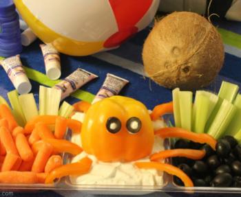 Bell Pepper Octopus Veggie Dip