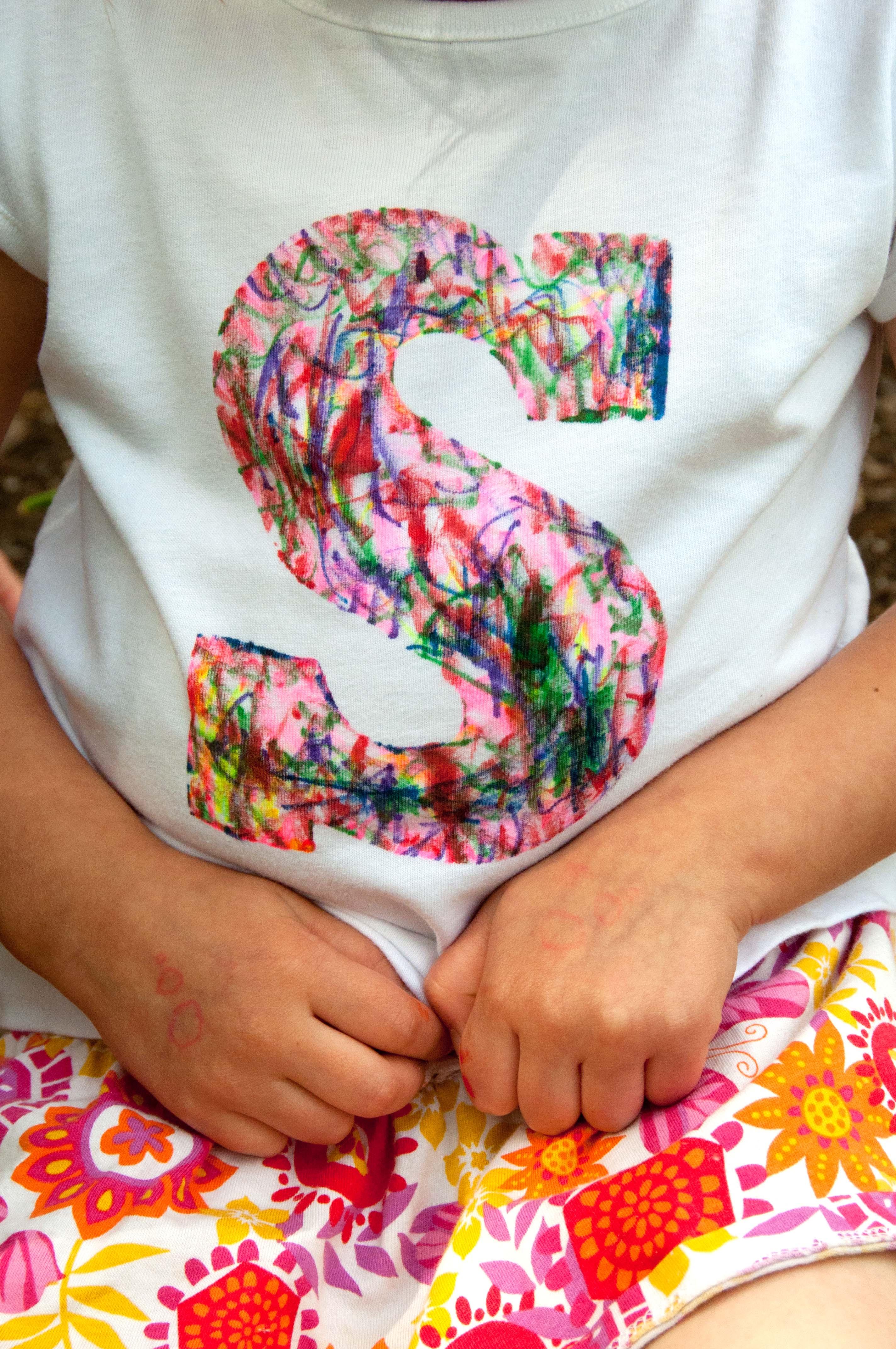 Scribble Initial T-Shirt