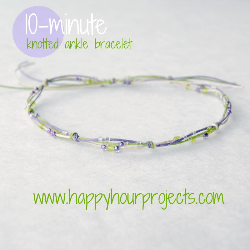 10-Minute Knotted Bracelet
