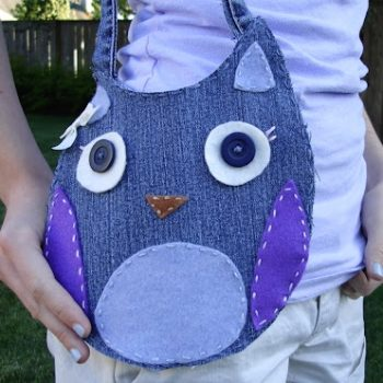 Recycled Denim Owl Purse Tutorial