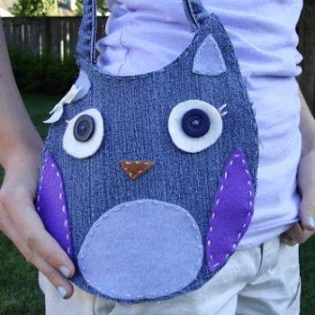 Recycled Denim Owl Purse Tutorial