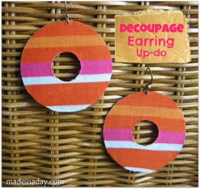 Decoupage Earrings