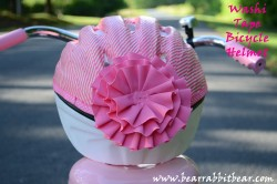 Washi Tape Bicycle Helmet