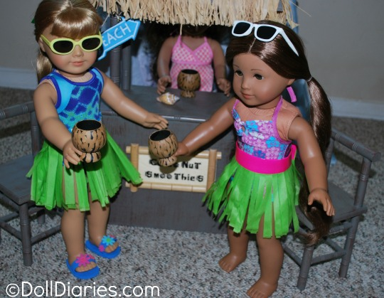 Hula Skirts for Dolls